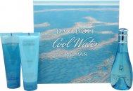 Davidoff Cool Water Giftset 100ml EDT + 75ml Body Lotion + 75ml Duschgel