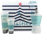Jean Paul Gaultier Le Beau Male Gift Set 125ml EDT + 75ml Duschgel + 30ml Aftershave Balm