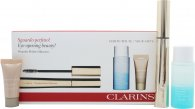 Clarins Wonder Perfect Gift Set 7ml Mascara 01 Black + 30ml Instant Eye Make-Up Remover + 5ml Instant Concealer