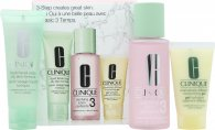 Clinique 3-Step Skincare Gift Set 50ml Liquid Facial Soap Oily Skin Formula + 100ml Clarifying Lotion 3 Combination Oily + 30ml Dramatically Different Moisturizing Gel Combination Oily To Oily