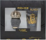 Police To Be The King Gift Set 40ml EDT Spray + 100ml All Over Body Schampo