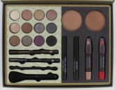 Sunkissed Moroccan Escape Saharan Beauty Gift Set 12 x 2.8g Eyeshadow + 2 x 13g Blusher + 5.5ml Mascara Black + 2 x 3.3g Lip Crayon + 1.2g Eyeliner Pencil Black + 6.5ml Liquid Eyeliner Black + 1.2g Brow Pencil + Double Applicator + Blusher Brush