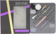 Active Glamour Night Look Cosmetic Palette - Ögonskugga + Svart Eyeliner + Läppglans + Svart Mascara + Spegel