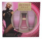 Beyonce Heat Wild Orchid Gift Set 30ml EDP + 75ml Body Lotion + 75ml Duschgel