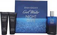 Davidoff Cool Water Night Dive Presentset 125ml EDT + 75ml Duschgel  + 75ml Aftershave Balm