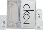 Calvin Klein CK2 Presentset 100ml EDT + 75ml Deodorant Stick