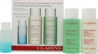 Clarins Cleansing Essentials Presentset - Oily/Combination Skin 30ml Instant Make Up Remover + 100ml Anti Pollution Cleansing Milk + 100ml Toning Lotion