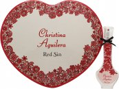 Christina Aguilera Red Sin Presentset 30ml EDP + Hjärtformad Ask (Plåt)