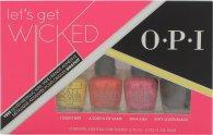 OPI Let's Get Wicked Presentset 4 x 3.75ml Mini Nagellack (I Don't Bite + A Touch of Vamp + Diva-Ush + Kitty Loves Black)