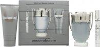 Paco Rabanne Invictus Presentset 100ml EDT Spray + 100ml Duschgel + Mini 10ml EDT