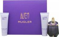 Thierry Mugler Alien Gift Set 30ml EDP Refillable + 50ml Body Lotion + 50ml Dusch Gel
