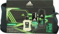 Adidas Sport Field Gift Set 100ml EDT + 150ml Body Sprej + 250ml Duschgel + Näccesär