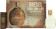 Diesel Fuel For Life Gift Set 30ml EDT Sprej + 50ml Duschgel