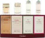 Cartier Miniatures Presentset 5ml EDT Eau de Cartier + 6ml EDP Baiser Vole + 4ml EDP La Panthere Legere + 6ml EDP La Panthere