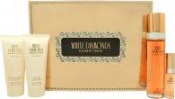 Elizabeth Taylor White Diamonds Presentset 100ml EDT + 100ml Body Lotion + 100ml Duschgel + 15ml EDP