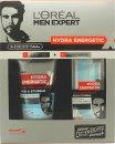 L'Oreal Men Expert Hydra Energetic Barber Shop Gift Set 150ml Face Wash + 50ml Moisturising Gel