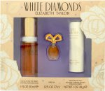 Elizabeth Taylor White Diamonds Presentset 30ml EDT + 3.7ml Parfum +  28g Satin Body Talc