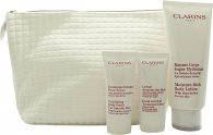 Clarins My Winter Essentials Presentset 200ml Body Lotion + 30 Body Scrub + 30ml Hand Cream + Travel Case