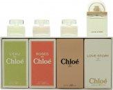 Chloé Miniatures Presentset 5ml L'eau de Chloé EDT + 5ml Roses De Chloé EDT + 5ml Chloé EDP + 7.5ml Love Story EDP